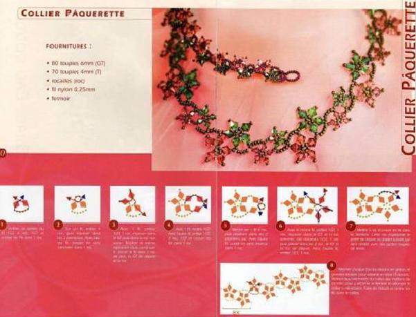 Схема цветочного браслета