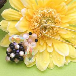 Пчелка из бусин и кристаллов