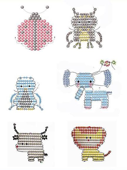 Схемы разных плоских фигурок